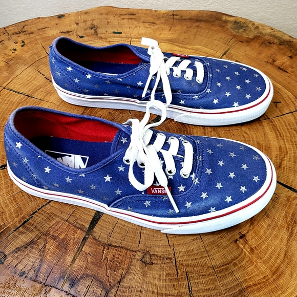 Vans Shoes   Navy Blue And Silver Star